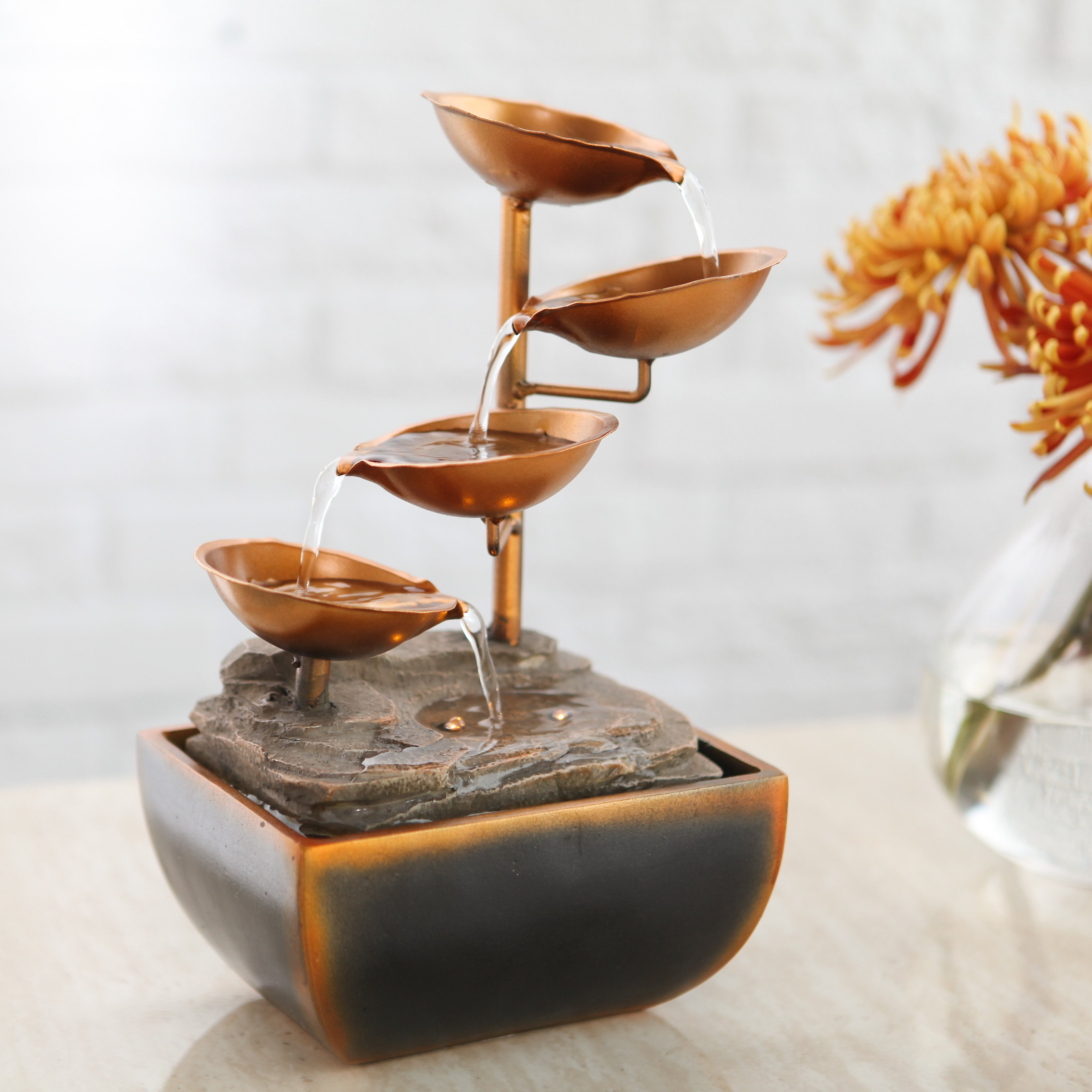 Tabletop water fountains the perfect complement to any décor indoor fountain pros